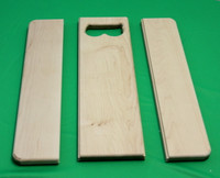 The Beginners Basic Cutting Board is comprised of three pieces.