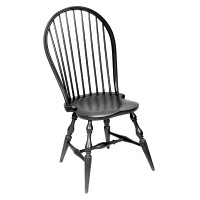 The Windsor chair was traditionally painted, often in a black or forest green. Many people choose to use both colors and sand through to get an aged experience. Have fun creating your perfect color.