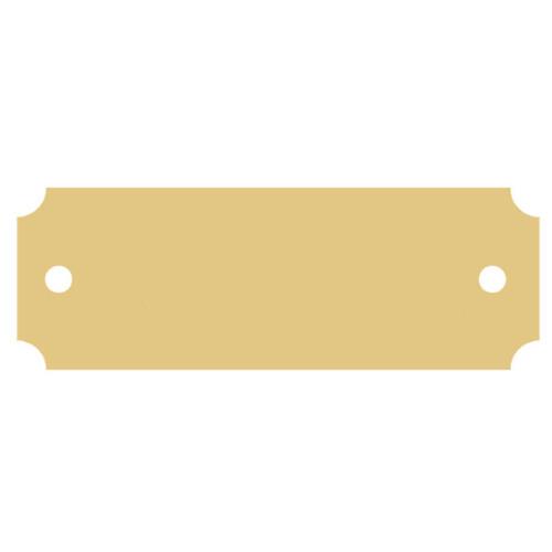 A blank brass nameplate.