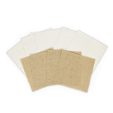 Platinum Pack 1 - 6 in x 6 in Burlap & Canvas Sheets (9 Pieces) (PLP-001)