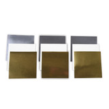 Platinum Pack 3 - 6 in x 6 in Poster Board Sheets Metallic Gold, Metallic Silver, & White (9 Pieces) (PLP-003)