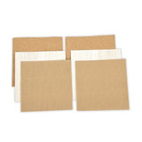 Platinum Pack 5 - 6 in x 6 in Cork, Corrugated Cardboard, & Balsa Wood Sheets (6 Pieces) (PLP-005)