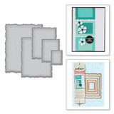 Nestabilities Deckled Rectangles LG Etched Dies
