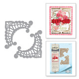 Shapeabilities Eliza Lace Corners Etched Dies Chantilly Paper Lace Collection by Becca Feeken