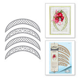 Shapeabilities Lunette Arched Borders Etched Dies Chantilly Paper Lace Collection by Becca Feeken