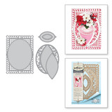 Shapeabilities Bella Rose Lattice Layering Frame Large Etched Dies Chantilly Paper Lace Collection by Becca Feeken