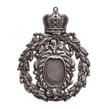 A Gilded Life Crowned Medallion - Silver Pendant