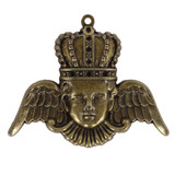 A Gilded Life Crowned Angel - Bronze Pendants