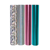 Glimmer Hot Foil  4 Rolls - Metallic & Holographic Variety Pack