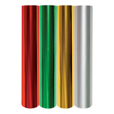 Glimmer Hot Foil  4 Rolls - Holiday Variety Pack.