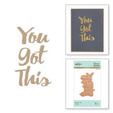 You Got This Glimmer Hot Foil Plate