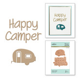 Happy Camper Glimmer Hot Foil Plate