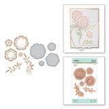 Foil Flowers Glorious Glimmer Hot Foil Classic Plates by Becca Feeken