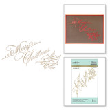 Copperplate Merry Christmas Holiday 2018 Glimmer Hot Foil Plate by Paul Antonio