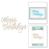 Faux Happy Holidays Holiday 2018 Glimmer Hot Foil Plate by Paul Antonio