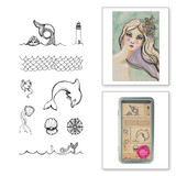 Tin of Mermaids Wood Mount Stamps Artomology Collection by Jane Davenport