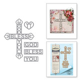 Shapeabilities God Bless You Cross Etched Dies Thoughtful Expressions by Marisa Job