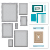 Nestabilities Fancy Edged Rectangles Etched Dies