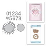 Shapeabilities Happy Birthday w/Numbers Etched Dies Special Moments Collection by Marisa Job
