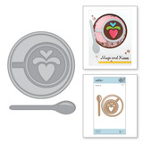 Shapeabilities Heart Latte Etched Dies Cuppa Coffee, Cuppa Tea Collection by Sharyn Sowell