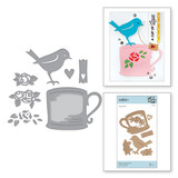 Shapeabilities Robin and Rosy Mug Etched Dies Cuppa Coffee, Cuppa Tea Collection by Sharyn Sowell