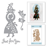 Shapeabilities Coffee Woman Etched Dies Cuppa Coffee, Cuppa Tea Collection by Sharyn Sowell