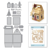 Shapeabilities Charming Cottage Box Etched Dies A Charming Christmas Collection by Becca Feeken
