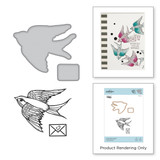 A Little Birdie Told Me Stamp and Die Set Inked Messages Collection by Stephanie Low