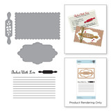 Recipe Card Set Stamp and Die Set A Sweet Christmas by Sharyn Sowell