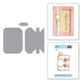"""Shapeabilities Adjustable Shadowbox Frame with 3/4"""" Border Etched Dies Shadowbox by Becca Feeken"""