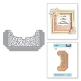 Shapeabilities Filigree Shadowbox Easel and Pocket Etched Dies Shadowbox by Becca Feeken
