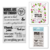 Words Are Not Enough Clear Stamps