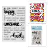 Happy Sentiments Clear Stamps