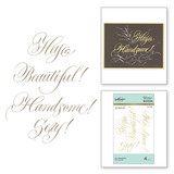 Hey Beautiful! Glimmer Hot Foil Plate PA Scribe Collection