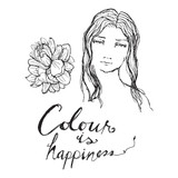 Colour is Happiness Clear Stamp from Artomology by Jane Davenport