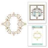 Petite Looking Glass Frame Glimmer Hot Foil Plate Royal Flourish by Becca Feeken