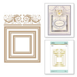 Crowned Rimmed Squares Glimmer Hot Foil Plate Royal Flourish by Becca Feeken