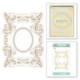 The Contessa's Seal Panel Glimmer Hot Foil Plate Royal Flourish by Becca Feeken