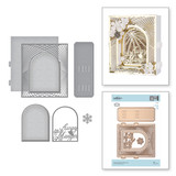 Shapeabilities Grand Christmas Lattice Arch Etched Dies 3D Holiday Vignettes Collection by Becca Feeken