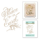 Copperplate Script Peace on Earth Glimmer Hot Foil Plate PA Scribe by Paul Antonio