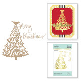 Merry Christmas Tree Glimmer Hot Foil Plate Sharyn Sowell Holiday Traditions