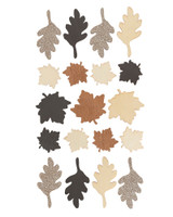Golden Leaves Wooden Stickers