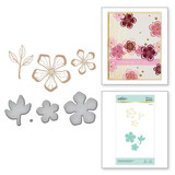 Glimmering Layered Flowers Glimmer Hot Foil Plate