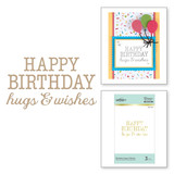 Birthday Hugs & Wishes Glimmer Hot Foil Plate