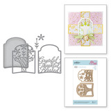 Shapeabilities Grateful Thankful Blessed 3D Layering Etched Dies 3D Vignette Mini Album Collection by Becca Feeken