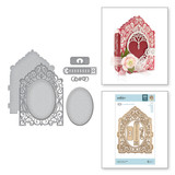 Shapeabilities Grand Crested Tower Etched Dies 3D Vignette Mini Album Collection by Becca Feeken