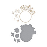 Foliage Border Glimmer Hot Foil Plate & Die Set from Foil Basics by Yana Smakula
