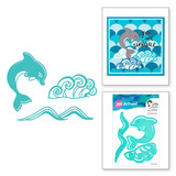Happy Little Dolphin Etched Dies Marvelous Mermaids by Jane Davenport