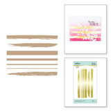 Foiled Brushstrokes and Stripes Glimmer Hot Foil Plate Effortless Greetings Collection