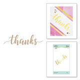 Sweeping Thanks Glimmer Hot Foil Plate Effortless Greetings Collection